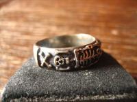 Gedenkring Skelett Trauerschmuck Bankdring Ring et Nox 925er Silber RG 64 / 20, 3