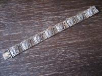 herrliches Jugendstil Armband 800er Silber gold Markasit Efeu Handarbeit 18, 5 cm