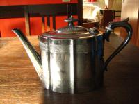 traumhaft verzierte viktorianische Teekanne Silberkanne Kanne Sheffield 1890
