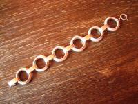 prächtiges elegantes Art Deco Armband 835er Silber 2, 5 cm breit ca. 20 cm lang