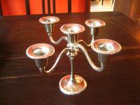 bezaubernder kleiner 5arm Kerzenständer Kerzenhalter Leuchter Kandelaber silber