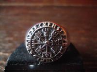 maritimer Herrenring Ring Wikinger Kompass Celtic 925er Silber neu et Nox RG 64