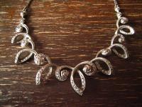 reich verschnörkeltes Art Deco Collier Markasit 835er Silber florale Konzeption