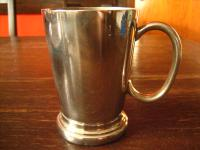 sehr edler Silberbecher Pub Becher 1/2 Pint silper pl England witzig als Vase
