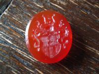 antikes Adelswappen Wappen Adel Siegel Gemme Intaglio für Siegelring Carneol