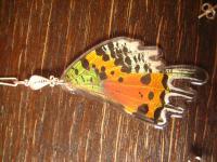 Schatz der Natur Anhänger Schmetterlingsflügel F 925er Silber Kette Eco Friendly