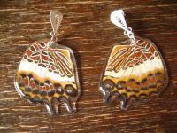 Schätze der Natur Ohrringe Schmetterlingsflügel D 925er Silber Eco Friendly