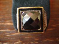 geschmackvoller Herrenring Ring 925er geschmackvoller Herrenring Ring 925er Silber Schmuckstein gold RG 61 19, 5 mm