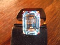 klassisch eleganter Blautopas Ring im Art Deco Stil 925er Silber RG 57 18 mm