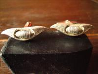 extravagant und mutig vintage Designer Manschettenknöpfe 835er Silber signiert
