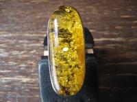 exquisiter Statement Designer Ring 925er Silber Natur Bernstein Unikat RG 62 NEU