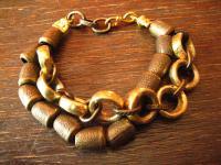 angesagtes ultra cooles Statement Armband Designer Leonardi Arte alt gold BOHO