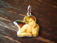 reizender Kinder Anhänger Bettelarmband Schutzengel Engel Amulett 925er Silber