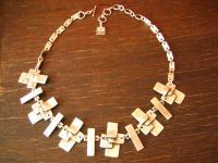 ganz ausgefallene exklusive Statement Collier Kette Designer Leonardi Arte silber