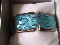 elegantes Armband türkis silber 2, 7 cm NEU Kunsthandwerk Arts & Crafts Unikat