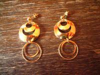 herrliche lange Statement Ohrringe Hänger Chandeliers 925er Silber vergoldet NEU