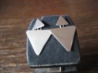 originelle Ohrringe Stecker Hänger Dreieck Dreiecke 2in1 Look 925er Silber NEU