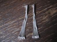 ultralange Statement Ohrringe Hänger 925er Silber 9 cm lang 6 feine Stränge