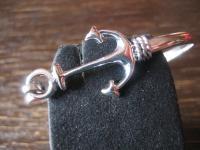 sehr elegante maritime Armspange Armreif Anker Marine Look 925er Silber NEU