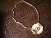 Traumhaftes Vintage Modernist Designer Collier Kette 925er Silber Farbsteine