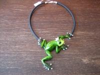 Traum Designer Statement Collier riesiger Frosch Froschkönig Arts & Crafts
