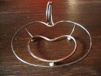 schnuckelige Apfel Schale für frische Äpfelchen Anbietschale silber pl England