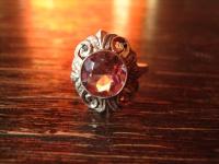 reizender Art Deco Ring Amethyst flieder lila 835er Silber wunderschön RG 54