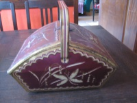 große Blechdose Korb original Werbung Storck wunderschön als Handarbeitskorb