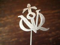 interessante antike Krawattennadel Stickpin Silber Handarbeit + 1920 Militaria ?