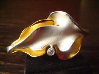 prächtiger Vintage Designer Armreif Charisma Günthner GmbH sig 925er Silber gold