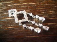 bezaubernder moderner Ornament Anhänger 925er Silber funkelnde Zirkonia neu