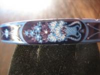 Michaela Frey Designer Armreif Emaille Modernist Vintage enamel bangle 70er Blau