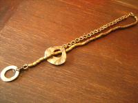angesagte ultra coole Statement Collier Kette Designer Leonardi Arte bronze gold