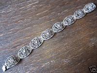 super schönes Jugendsil 800er Silber Armband Filigranarbeit Handarbeit sehr fein