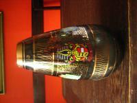 60er Jahre Vintage Andenkenglas Souvenir Vase Wappen Kärnten Mitbringsel Nippes