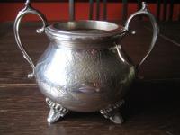 riesiger traumhaft schöner antiker Zuckertopf Zuckerschale silber pl England