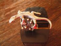 prächtiger Ring Eidechse Salamander Echse Gegko 925er Silber plastisch RG 52