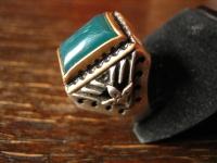 geschmackvoller wuchtiger Herrenring Ring 925er Silber Achat grün RG 62 19, 75 mm