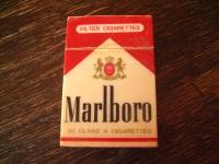 vintage Benzinfeuerzeug Feuerzeug Marlboro winzige Schachtel Werbung Reklame