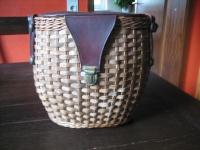 ausgefallene Vintage Korbtasche Korb als Tasche 60er Jahre Sixties Dirndl Körbchen