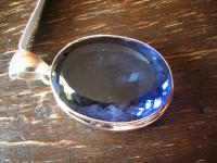 prächtiger Statement Anhänger riesiger Bergkristall tansanit blau 925er Silber