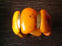 68 Gramm natural Baltic Butterscotch Amber Bernstein Armband Bracelet antik