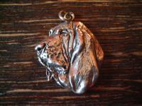 seltener Hunde Anhänger Bloodhound Schweißhund Jagdhund 925er Silber Hund Charm