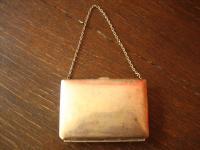 reizende Art Deco Tasche Abendtasche Silbertasche Geldbörse tolle Form silber pl