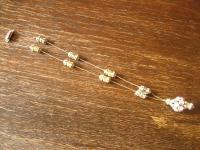 Traum Aurora Borealis Strass Collier Vintage Rhinestone Pendant Glitzerspass