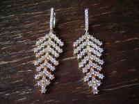 Kronjuwelen gesucht ? funkelnde Zirkonia Ohrringe Hänger 925er Silber vergoldet