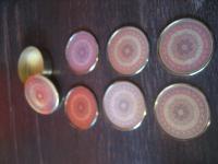 6 stilvolle Untersetzer Glasuntersetzer vintage Toledo maurischer Stil mit Dose