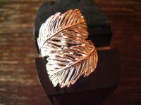 super schöner moderner Feder Ring ultra breit 925er Silber NEU RG 56 17, 5 mm