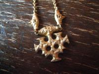 reizvolles vintage Collier Thorahmmer Hiddensee Wikinger 925er Silber vergoldet