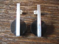 überraschende Statement Ohrringe Stecker Ohrstecker 925er Silber schwarz NEU